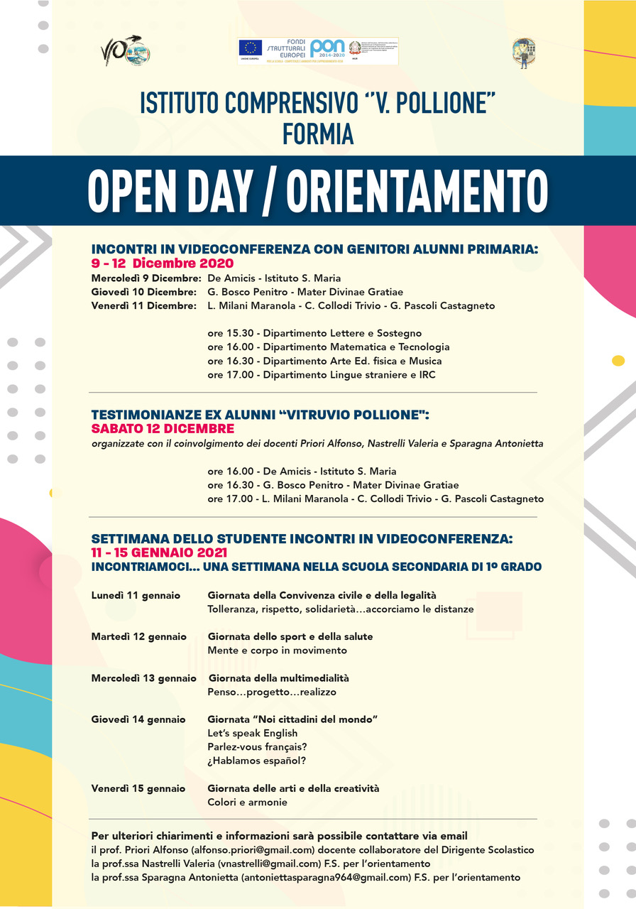 OPEN DAY POLLIONE 2021